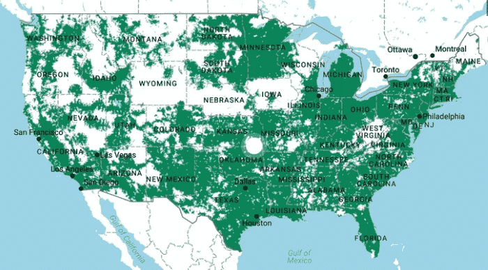 T-mobile coverage map - bestphoneplans.com